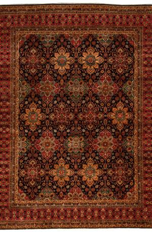 Afghan Nooristan 9X12 Blue Red Wool Area Rug