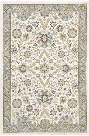 Catalan Collection 5X8 Ivory Transitional Area Rug