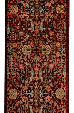 Afghan Faryab Runner Red Wool Area Rug