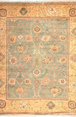 Turkish Oushak 9X12 Green Wool Area Rug