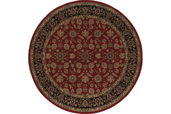 Ari Collection 5X8 Red Traditional Area Rug