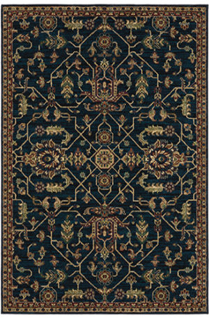 Capital Collection 5x8 Navy/Red Area Rug