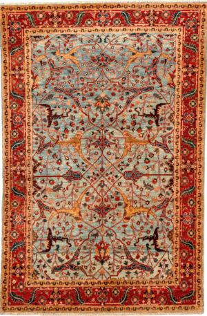 Afghan Nooristan 4X6 Blue Wool Area Rug