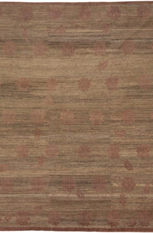 Contemporary Taupe 8X10 Grey Wool Area Rug
