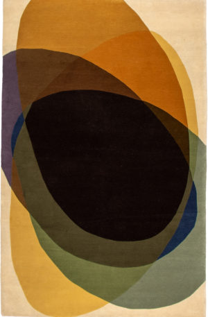 Contemporary 5X8 Multi Color Wool Area Rug