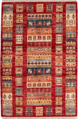 Pakistan Khorjin 3x5 Red Tribal Area Rug