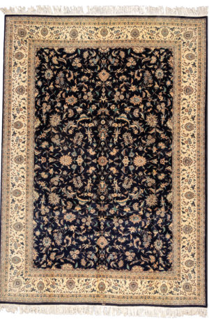 Pakistani 10X14 Blue Wool Area Rug