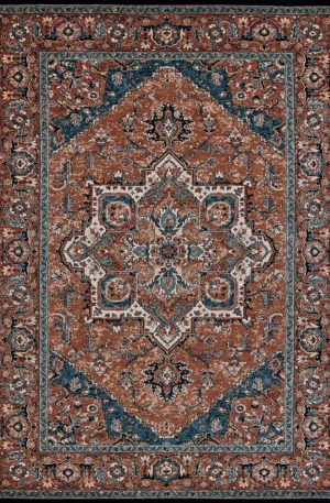 The Classics Collection 8X10 Red Red Area Rug