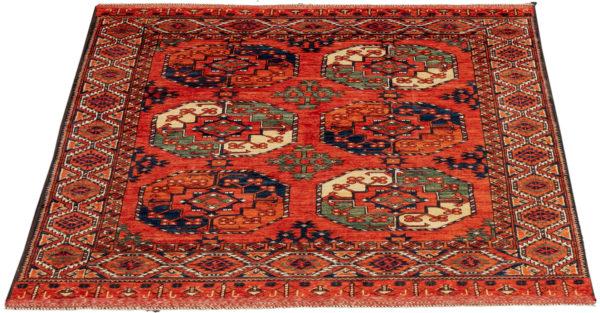 Afghan Turkmen Ersari 5X8 Red Wool Area Rug