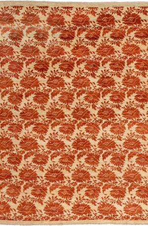 Afghan Bessarabian 4X6 Beige Wool Area Rug