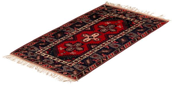 Turkish Tribal 4X6 Black Wool Area Rug