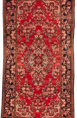 Iran Hamadan 5X8 Red Wool Area Rug