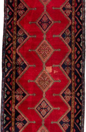 Iran Hamadan 5X8 Blue Wool Area Rug