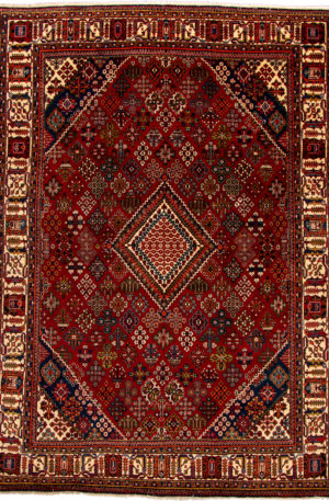 Iran Meymeh 8X10 Red Wool Area Rug