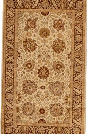 Pakistan Kermanshah 3X5 Ivory Wool Area Rug