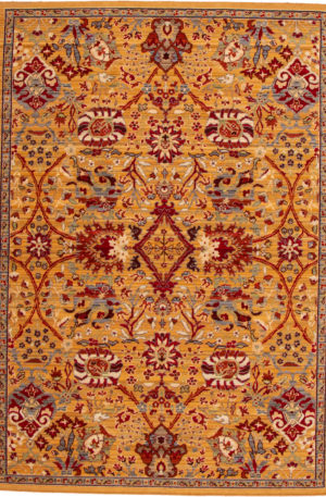 Transitional 5X8 Gold Area Rug