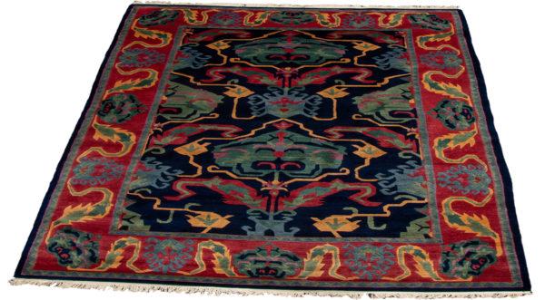 Nepal 6X9 Blue Wool Area Rug