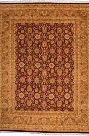 Pakistan Kashan 8X10 Red Wool Area Rug