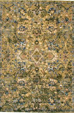Transitional 5X8 Green Area Rug