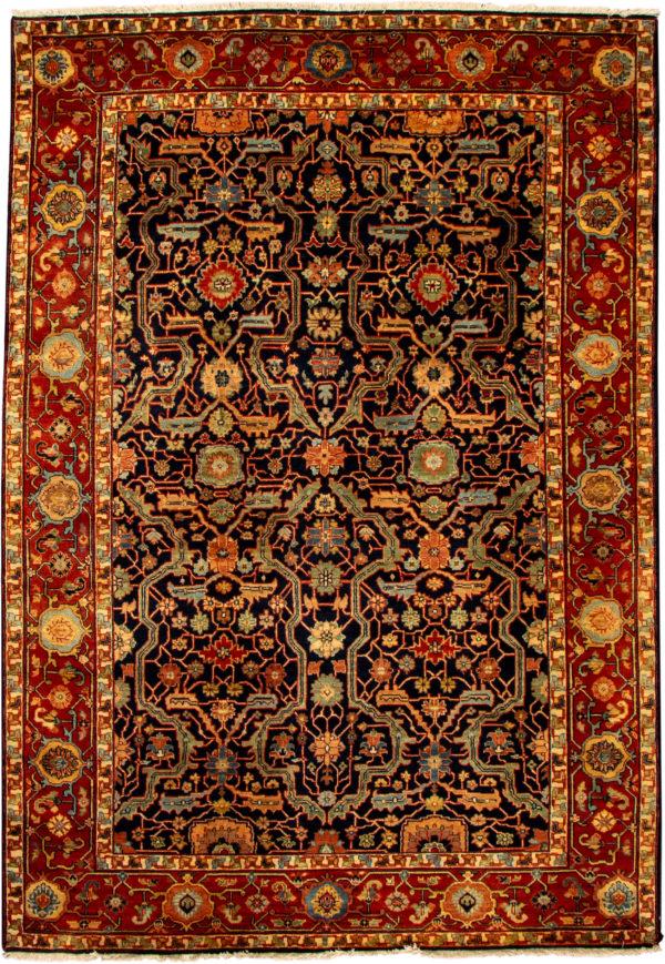 India Heriz 6X9 Blue Wool Area Rug