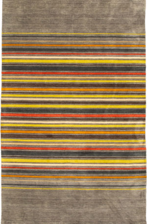 Contemporary 5X8 Grey Wool Area Rug