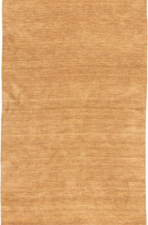 Contemporary 5X8 Yellow Wool Area Rug