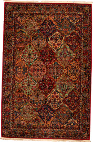 Traditional 6X9 Multi Color Wool Area Rug