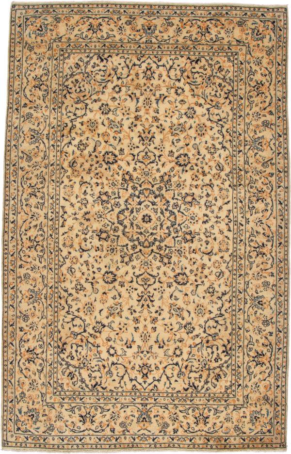 Iran Ardakan 6X9 Ivory Wool Area Rug