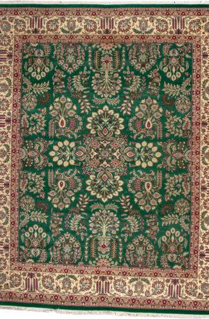 Traditional 8X10 Green Wool Area Rug