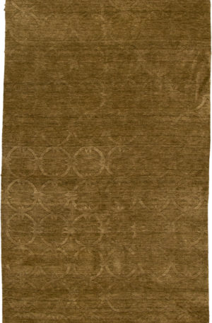 Contemporary 5X8 Green Wool Area Rug