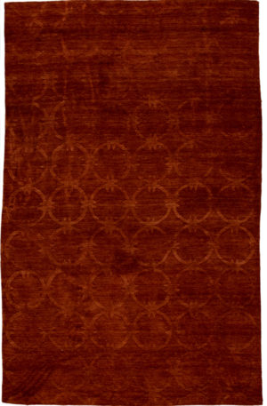 Contemporary 5X8 Brown Wool Area Rug