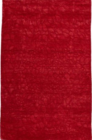 Contemporary 5X8 Red Wool Area Rug