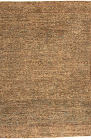 Afghanistan Contemporary 8X10 Brown Wool Area Rug