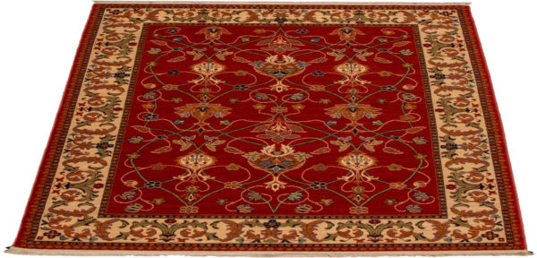 Arts & Crafts 5X8 Red Wool Area Rug