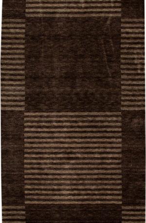 Contemporary 5X8 Black Wool Area Rug