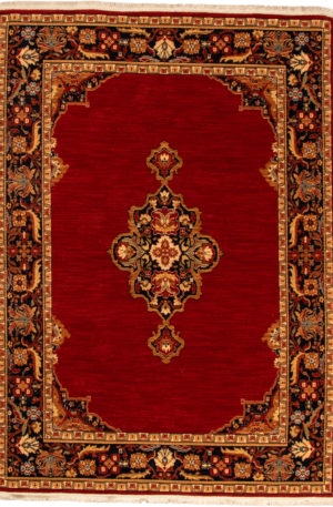 Traditional 5X8 Red Wool Area Rug