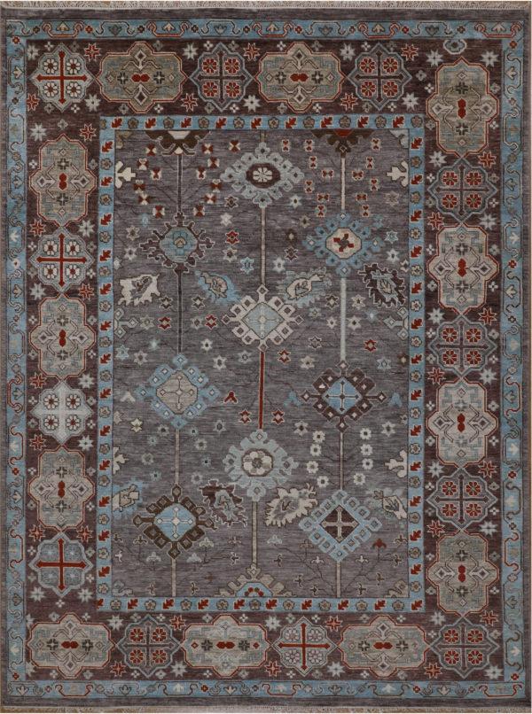 Anatolian Collection 9x12 Brown Wool Area Rug