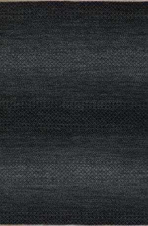 Amazon Collection 8x10 Black Wool Area Rug