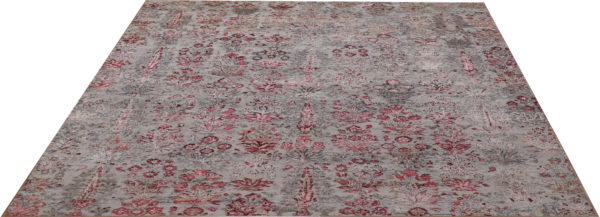 Cologne Collection 9x12 Beige Wool & Silk Area Rug