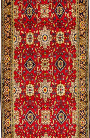 Persian Runner Red Blue Wool Area Rug