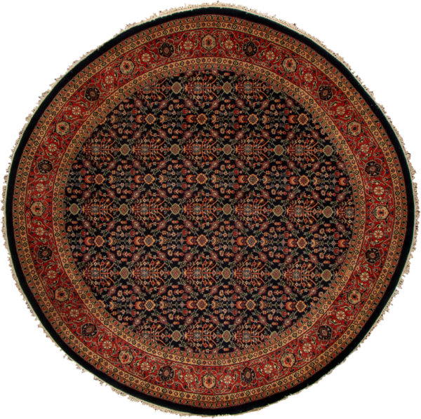 8X10 Blue Red Wool Area Rug