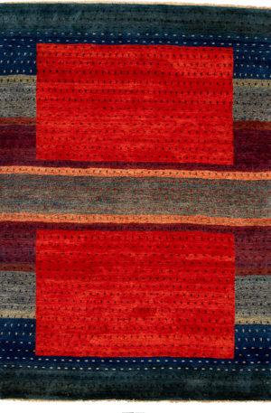 6X9 Red Multi Wool Area Rug
