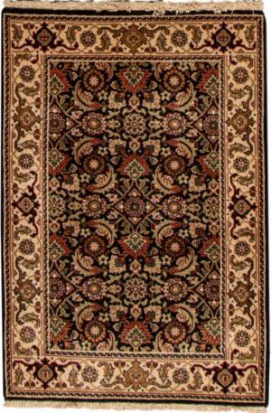 Indo Herati 2x3 Black Wool