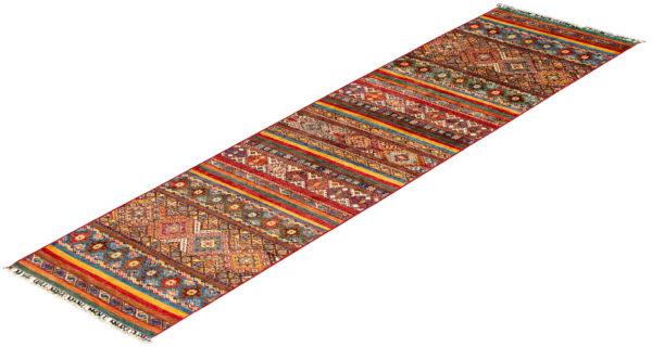 Afghani Khorjin Multi Runner Wool Area Rug