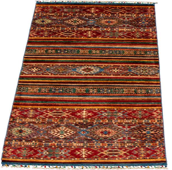 Afghani Khorjin Runner Multi Wool Area Rug
