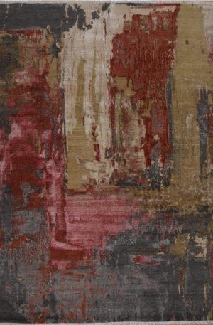 Manhattan Collection 10x14 Wool & Silk Area Rug
