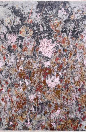 Indo Manhattan 8x10 Pink Wool & Silk Area Rug