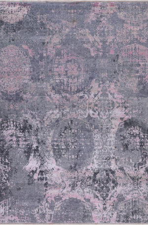 Manhattan Collection 8x10 Wool & Silk Area Rug
