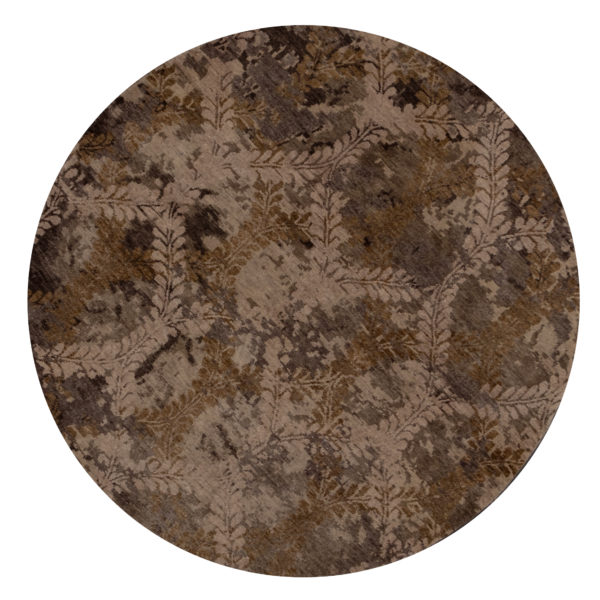 Midlands Collection 6' Round Wool Area Rug
