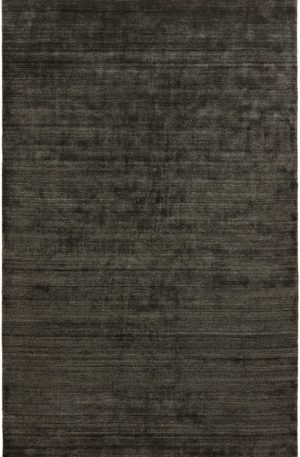 Apex Collection 4X6 Black Wool Area Rug